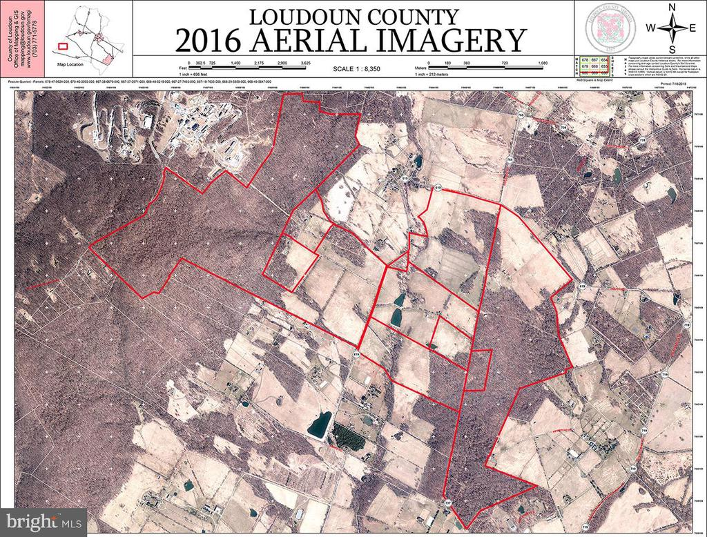 Aerial Map showing the 9 Parcels of the 1511 Acres - 20854 TRAPPE, UPPERVILLE