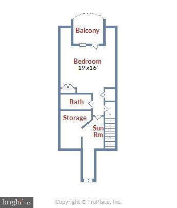 3rd level floor plan - 217 MILL ST, OCCOQUAN