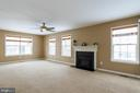Fireplace for those cold wintry nights - 9310 E CARONDELET DR, MANASSAS PARK