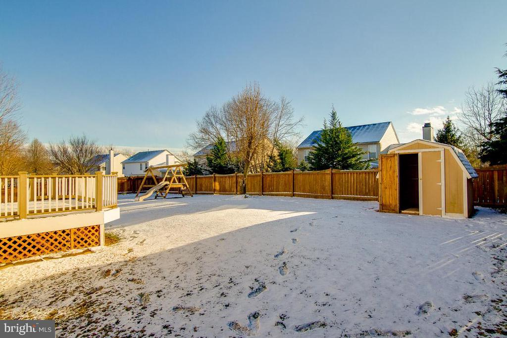 Backyard has a Shed for storage. - 9310 E CARONDELET DR, MANASSAS PARK
