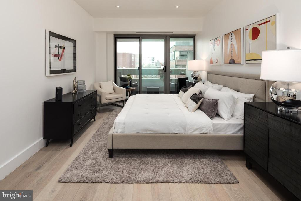 King size Bedroom with all new windows - 2501 M ST NW #608, WASHINGTON