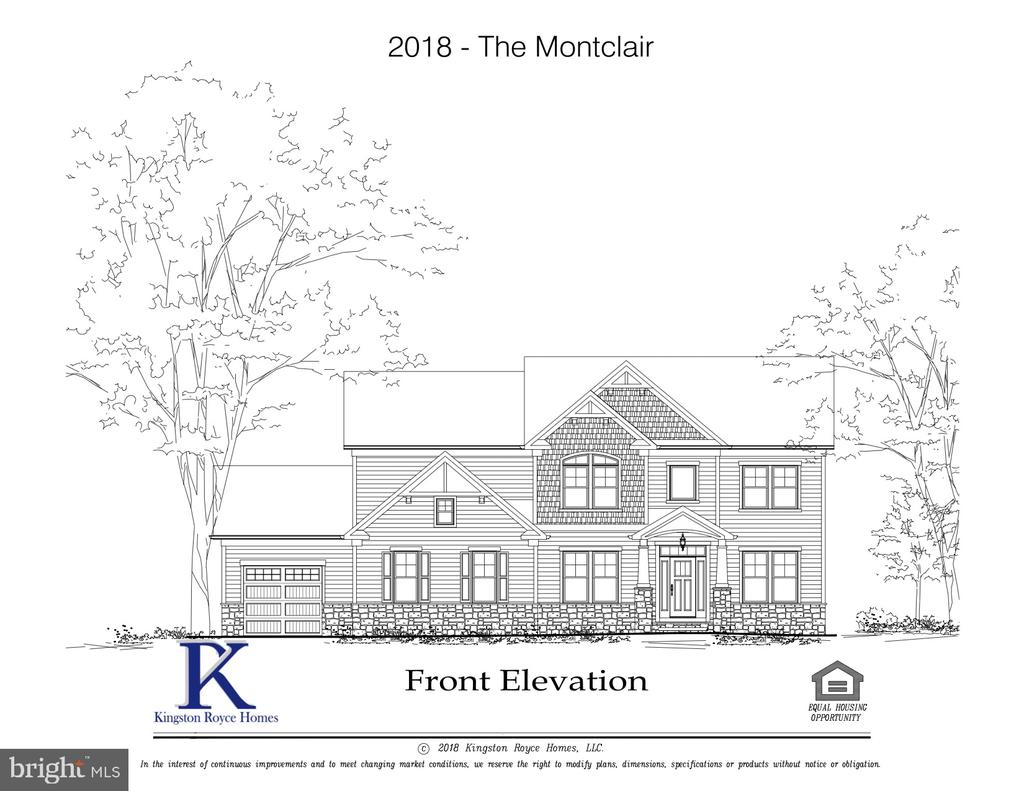 Montclair Front Elevation - 11701 VALLEY RD, FAIRFAX