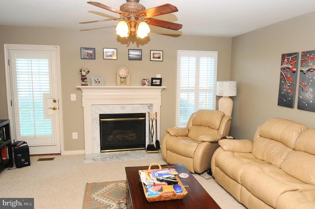 FAMILY ROOM WITH FIREPLACE - 20968 KILLAWOG TER, ASHBURN