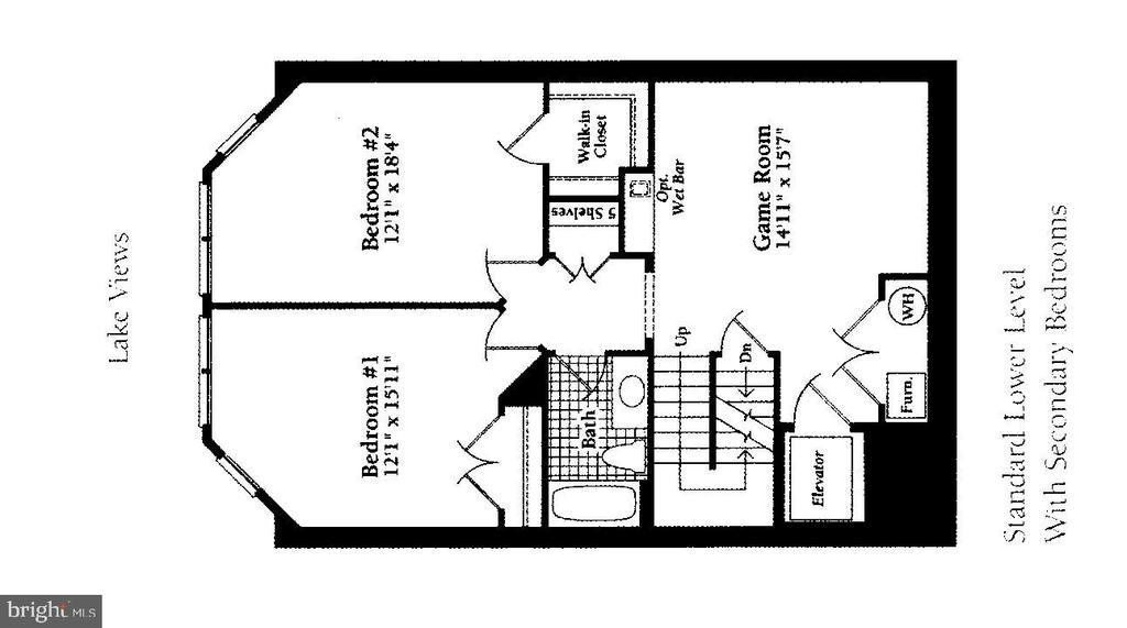 Floor Plan-Lower Level 2~Bedrms & Game Rm - 2052 BEACON HEIGHTS DR, RESTON
