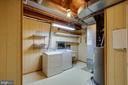 Laundry room in basement - 9920 WHITEWATER DR, BURKE