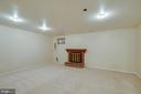 Recreation room in basement - 9920 WHITEWATER DR, BURKE