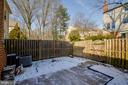 Fenced in backyard - 9920 WHITEWATER DR, BURKE