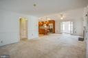 Open Dining and Living Room off the Kitchen. - 232 BIRCHSIDE CIR, LOCUST GROVE