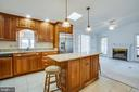 Center Island in Kitchen with Granite Counter Tops - 232 BIRCHSIDE CIR, LOCUST GROVE