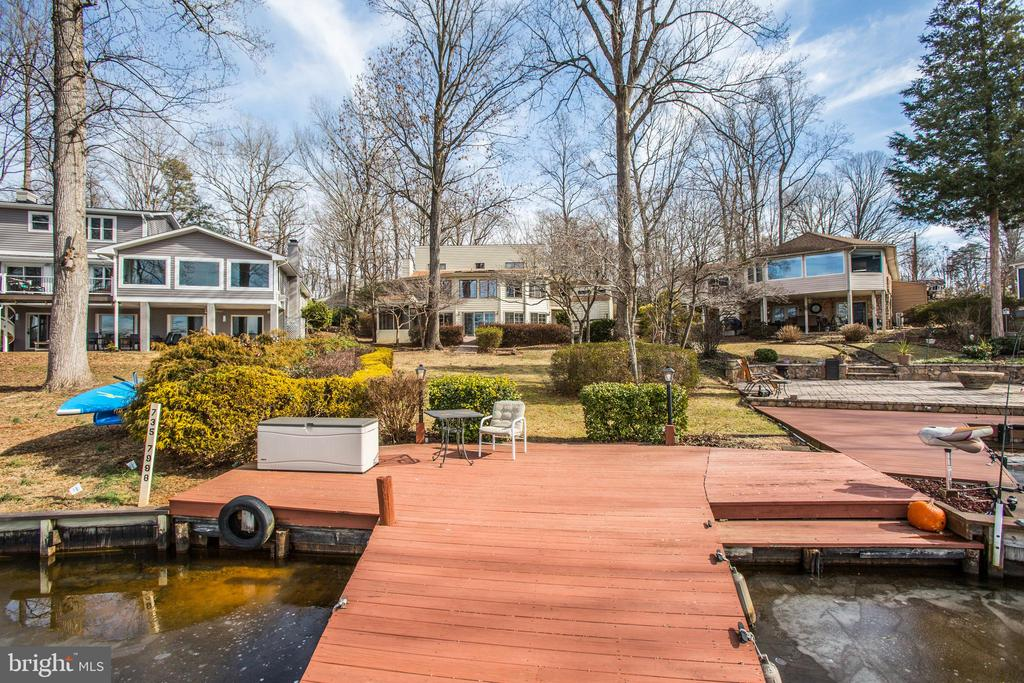 View from the Dock looking up to the home. - 232 BIRCHSIDE CIR, LOCUST GROVE