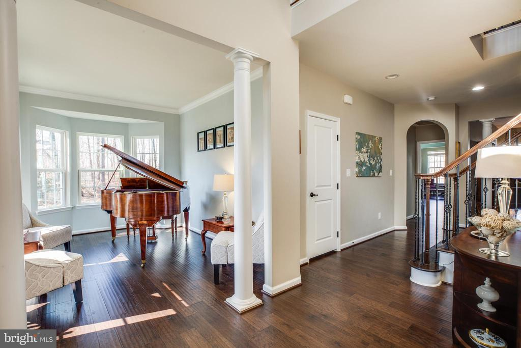 Stately columns & luxury wood floors on main level - 98 GENEVIEVE CT, FREDERICKSBURG