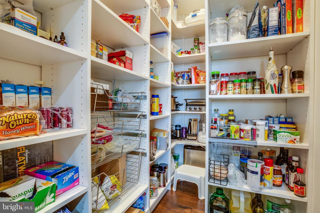 Get organized!Walk-in pantry with pullout shelving - 98 GENEVIEVE CT, FREDERICKSBURG