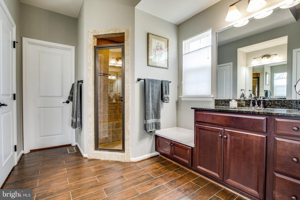 Master bath with heated ceramic floors - 98 GENEVIEVE CT, FREDERICKSBURG