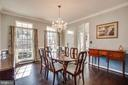 Elegant formal living room with custom chandelier - 98 GENEVIEVE CT, FREDERICKSBURG