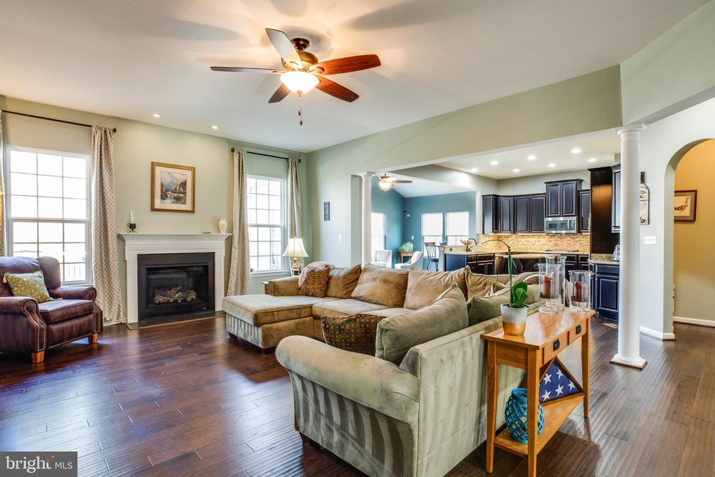 Large family room with four-foot bump-out - 98 GENEVIEVE CT, FREDERICKSBURG