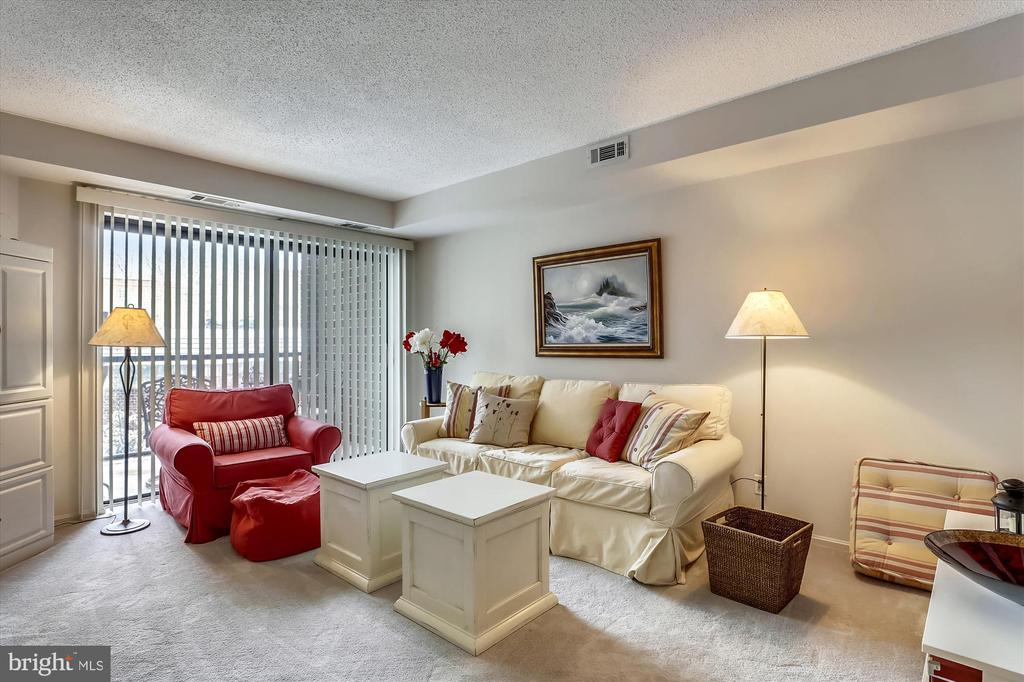 Sliding glass door out to private balcony - 2100 LEE HWY #114, ARLINGTON