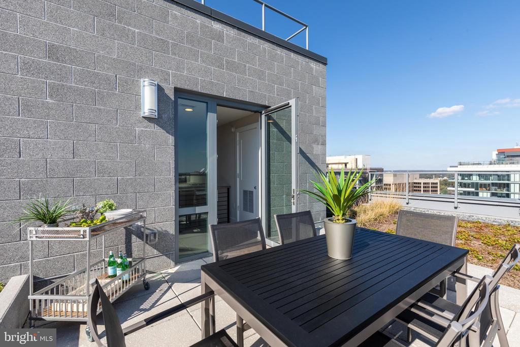 Private roof patio - 4960 FAIRMONT AVE #PH-1, BETHESDA