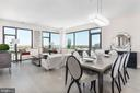 Living/Dining - 4960 FAIRMONT AVE #PH-1, BETHESDA