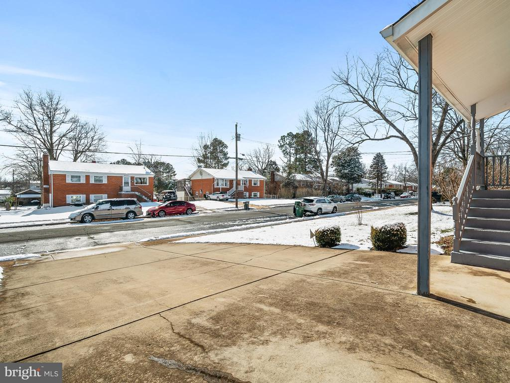 View from the driveway toward the street. - 9716 LAFAYETTE AVE, MANASSAS