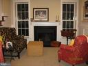 Lower level family room with 2nd FP - 1307 N GEORGE MASON DR, ARLINGTON
