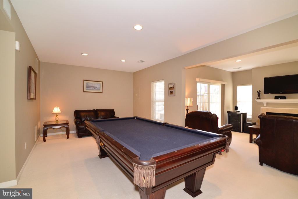 Finished basement game room - 12171 TRYTON WAY, RESTON