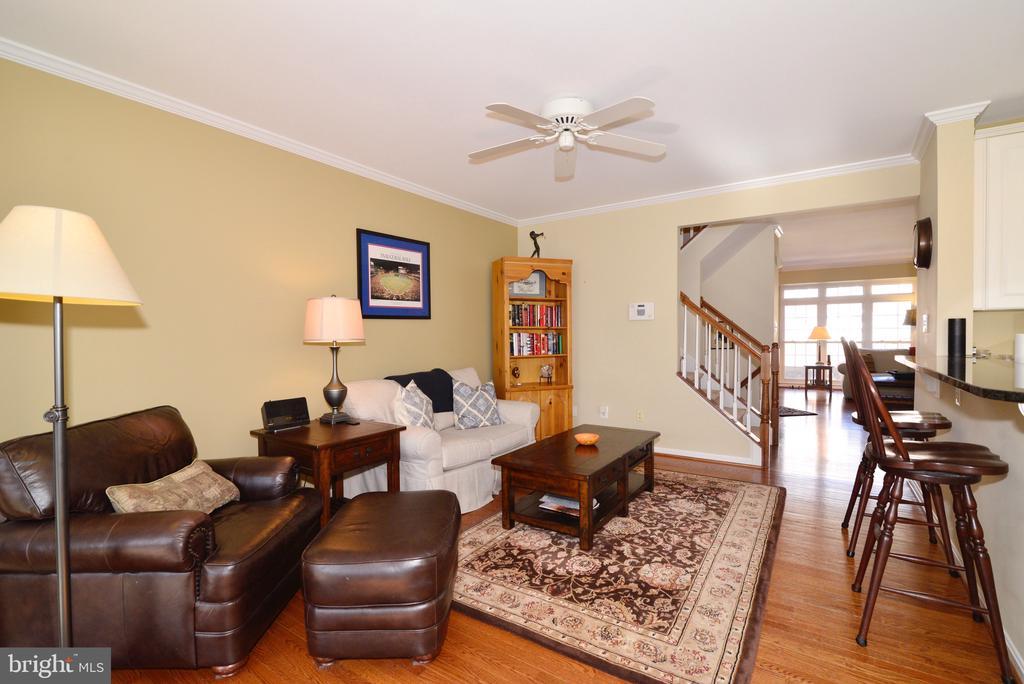 Hardwood floors in sitting room off kitchen - 12171 TRYTON WAY, RESTON