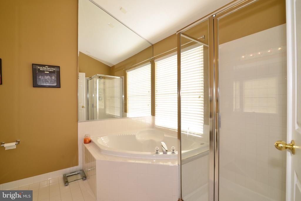 Master Bathroom soaking tub and separate shower - 12171 TRYTON WAY, RESTON