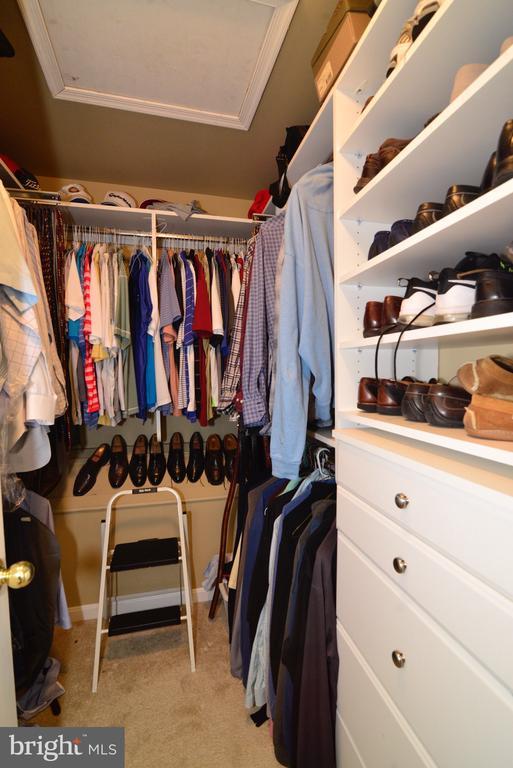 Master bedroom closet organizer - 12171 TRYTON WAY, RESTON