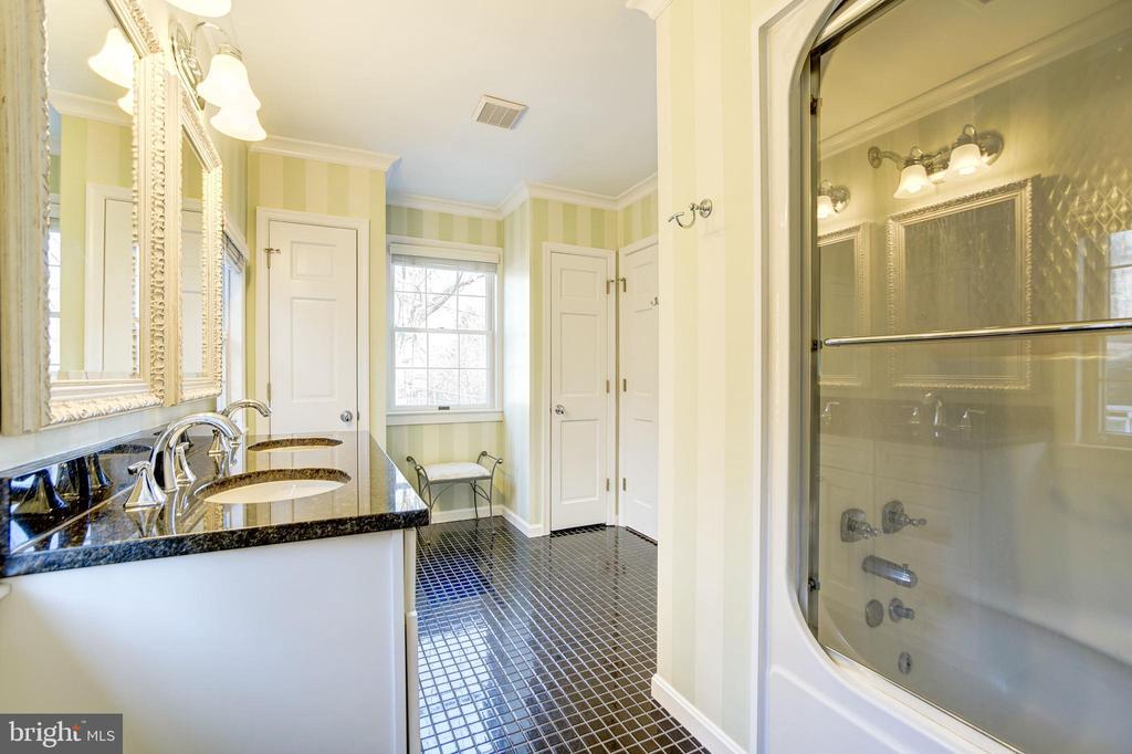 Double linen closets in master bath - 115 W MAPLE ST, ALEXANDRIA