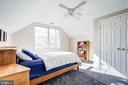 Large bright  bedroom with high ceilings - 115 W MAPLE ST, ALEXANDRIA