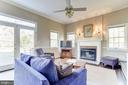 Wood-burning fireplace in family room - 115 W MAPLE ST, ALEXANDRIA