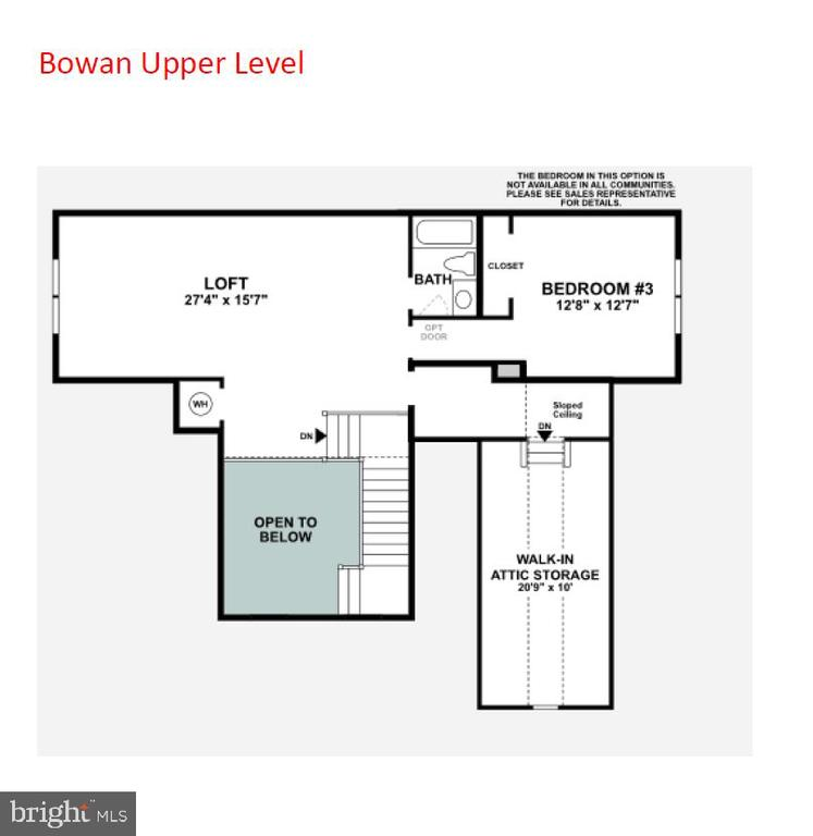 Upper Level Floor Plan  with Loft - 6014 TROTTERS POINT LN, GAINESVILLE