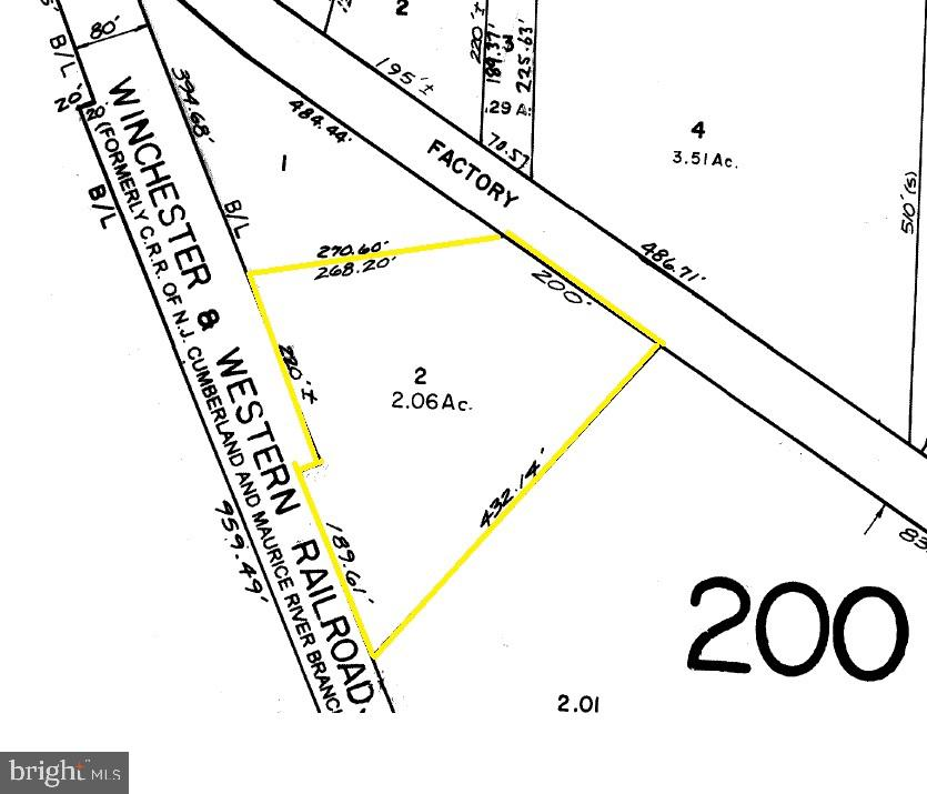 Land for Rent at FACTORY Cedarville, New Jersey 08311 United StatesMunicipality: Lawrence Township