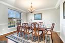 Oversized dining room - 25955 MCCOY CT, CHANTILLY