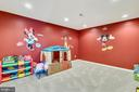 Media room or kids play room in the basement - 25955 MCCOY CT, CHANTILLY