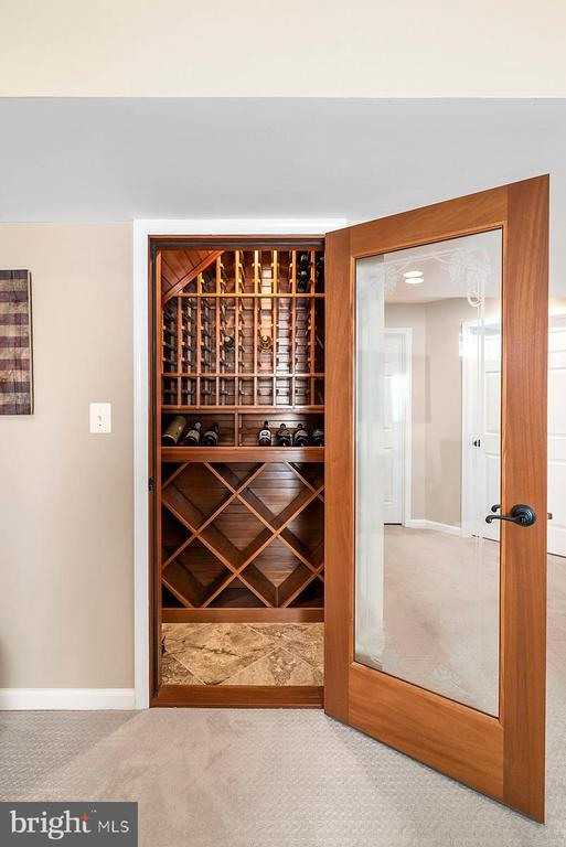 Wine cellar in the basement up to 350 bottles. - 25955 MCCOY CT, CHANTILLY