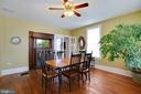 Dining Room with Built-ins. - 3722 KANAWHA AVE, POINT OF ROCKS