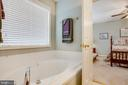 Soaking tub in the master bath - 8430 SWAN WOODS RD, RHOADESVILLE