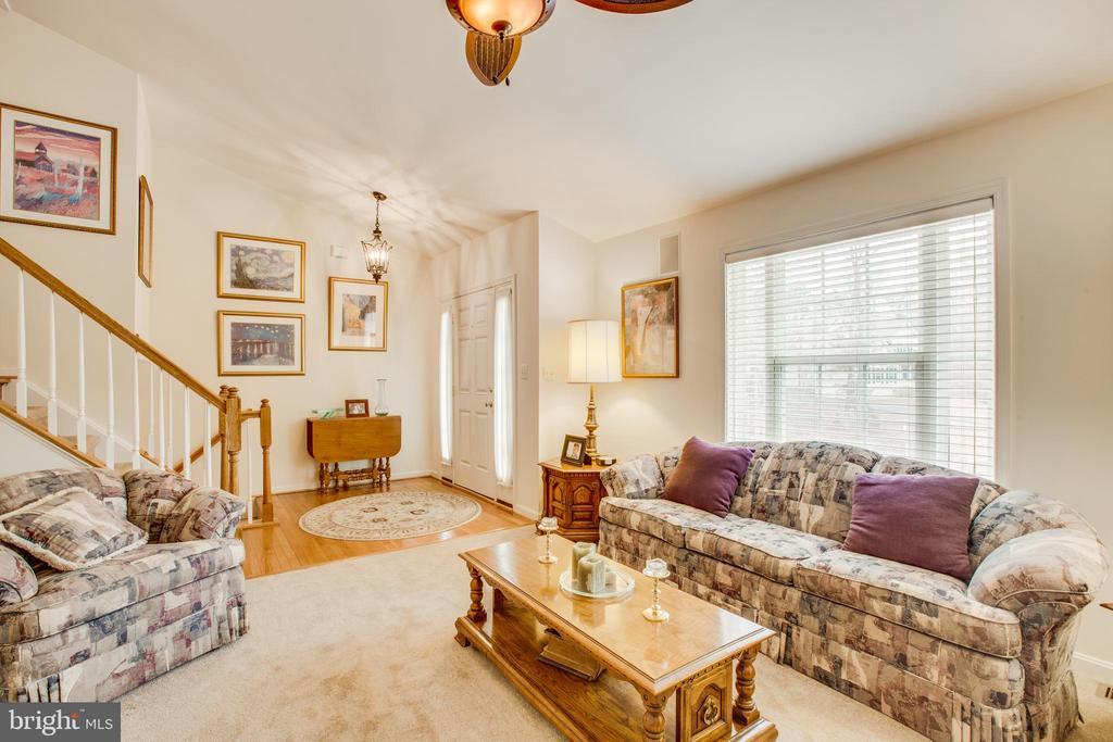 Dramatic living room - 8430 SWAN WOODS RD, RHOADESVILLE