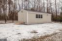 Shed with electric - 8430 SWAN WOODS RD, RHOADESVILLE