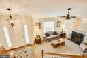 Overlook from upper level looking at the living rm - 8430 SWAN WOODS RD, RHOADESVILLE