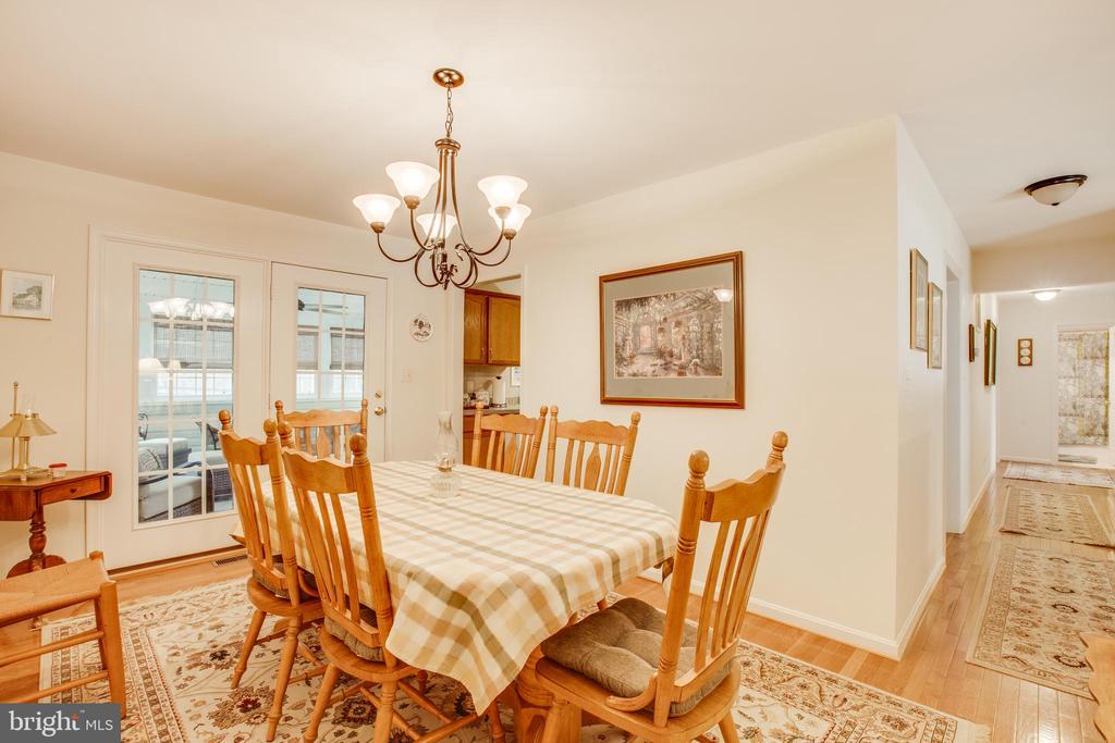 Dining room - 8430 SWAN WOODS RD, RHOADESVILLE