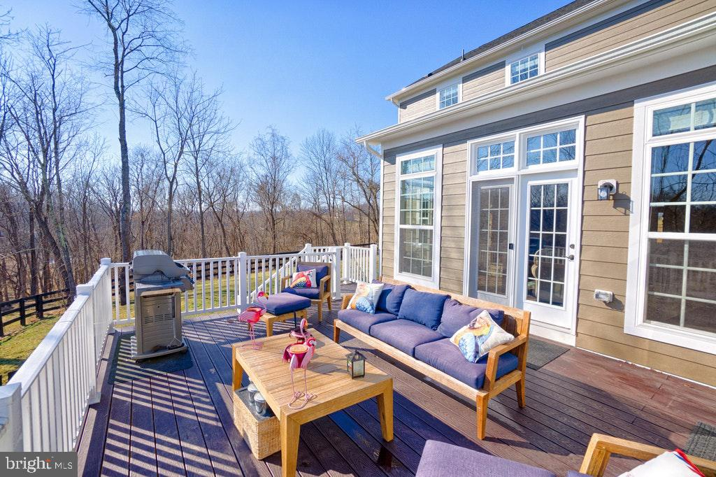 Trex deck with gorgeous views of creek and trees. - 39859 CHARLES HENRY PL, WATERFORD