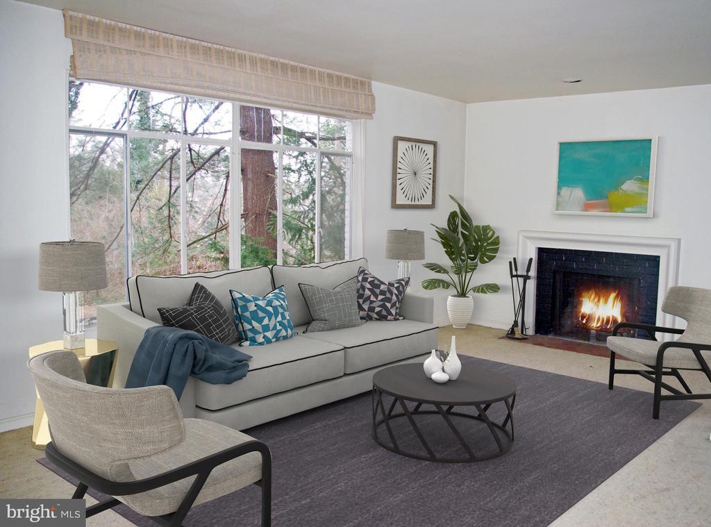 Living room - 7604 GLENNON DR, BETHESDA
