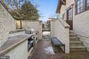 Outdoor built-in kitchen for outdoor entertaining - 1714 N CALVERT ST, ARLINGTON