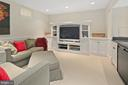 Recreation room with ample built-ins - 1714 N CALVERT ST, ARLINGTON