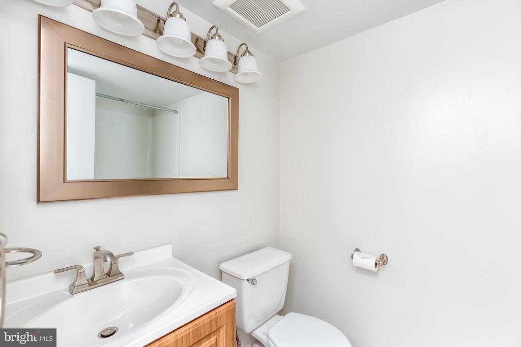 Bathroom w/new fan, lights & mirror - 1001 N RANDOLPH ST #323, ARLINGTON
