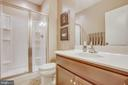 Full bath in basement. - 215 ROCK RAYMOND DR, STAFFORD