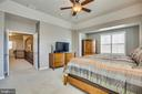 Master bedroom with sitting room. - 215 ROCK RAYMOND DR, STAFFORD