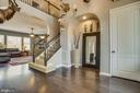 Dramatic 2 story foyer and open floor plan. - 215 ROCK RAYMOND DR, STAFFORD